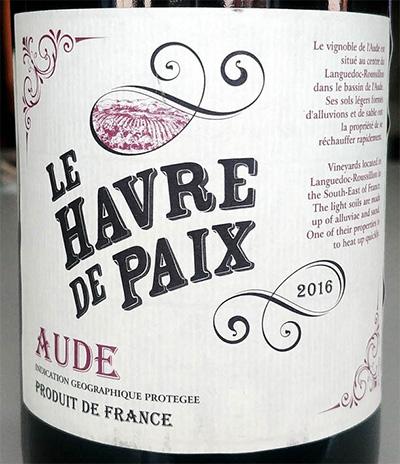 Отзыв о вине Le Havre de Paix Aude 2016