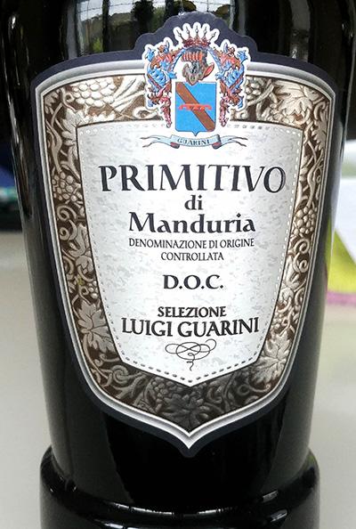Отзыв о вине Luigi Guarini Primitivo di Manduria selecione 2016