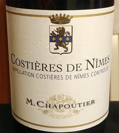 Отзыв о вине M.Chapoutier Costieres de Nimes 2015