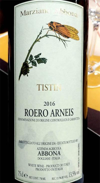 Отзыв о вине Marziano Abbona Tistin Roero Arneis 2016