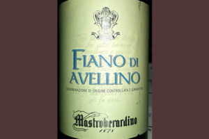 Отзыв о вине Mastroberardino Fiano di Avellino 2016
