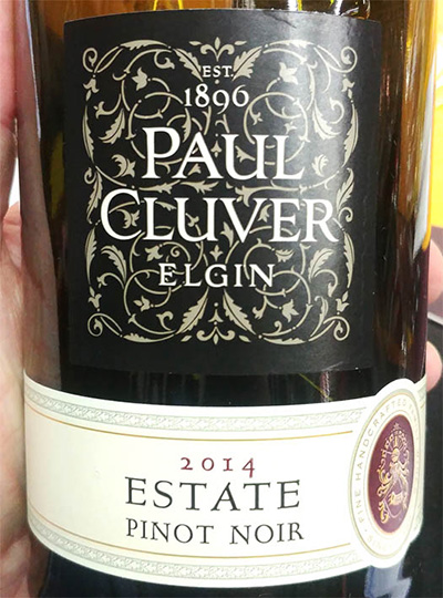 Отзыв о вине Paul Cluver Elgin Estate Pinot Noir 2014