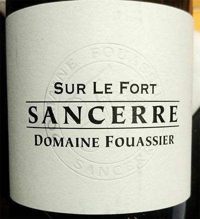 Отзыв о вине Sur le Fort Sancerre Domaine Fouassier 2016