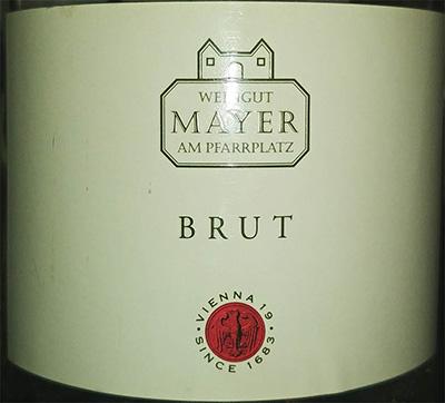 Отзыв об игристом вине Weingut Mayer AM Pfarrplatz Brut 2016
