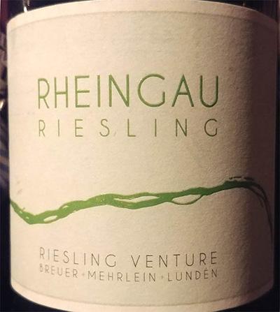 Отзыв о вине Breuer Mehrlein Lunden Rheingau Riesling Venture 2016