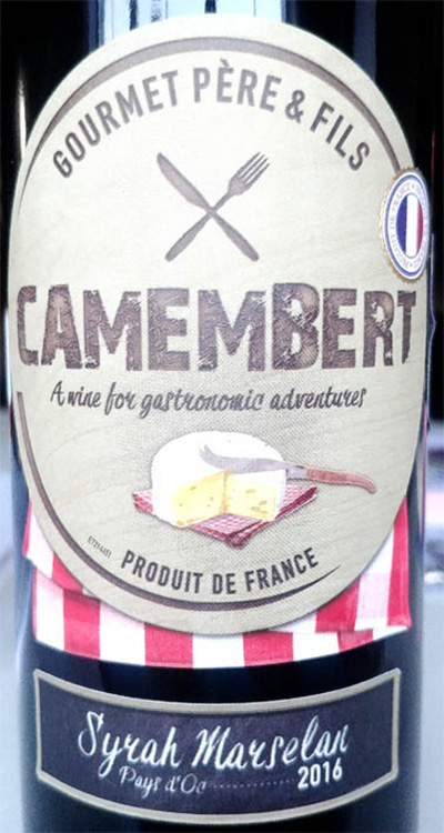 Отзыв о вине Camembert Syrah Marselan 2016