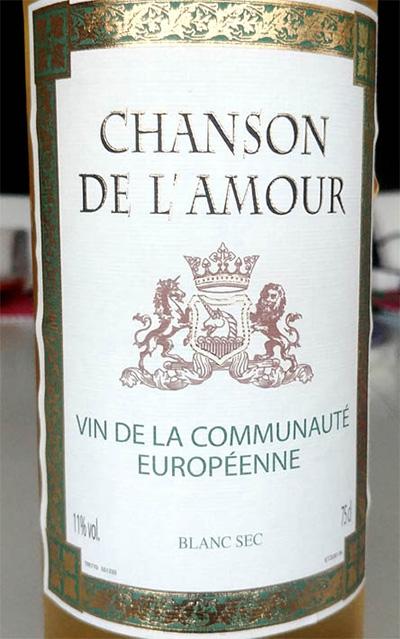 Отзыв о вине Chanson de l'Amour blanc 2014