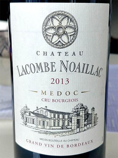 Отзыв о вине Chateau Lacombe Noaillac cru bourgeois 2013