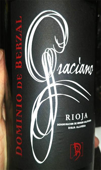 Отзыв о вине Dominio de Berzal Graciano 2016