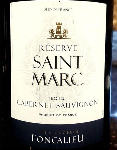Отзыв о вине Foncalieu Saint Marc Cabernet Sauvignon reserve 2015