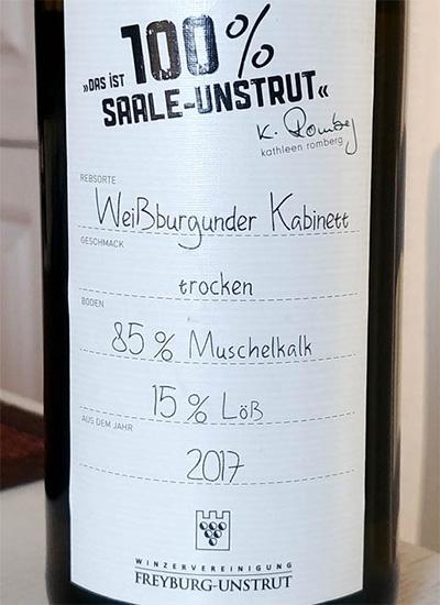 Отзыв о вине Freyberg-Unstrut Weisburgunder Kabinett trocken 2017