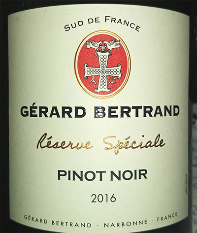 Отзыв о вине Gerard Bertrand Pinot Noir reserve speciale 2016