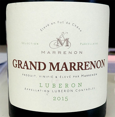 Отзыв о вине Grand Marrenon Luberon 2015