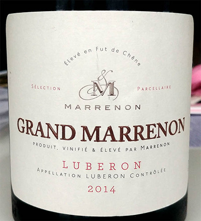 Отзыв о вине Grand Marrenon Luberon rouge 2014