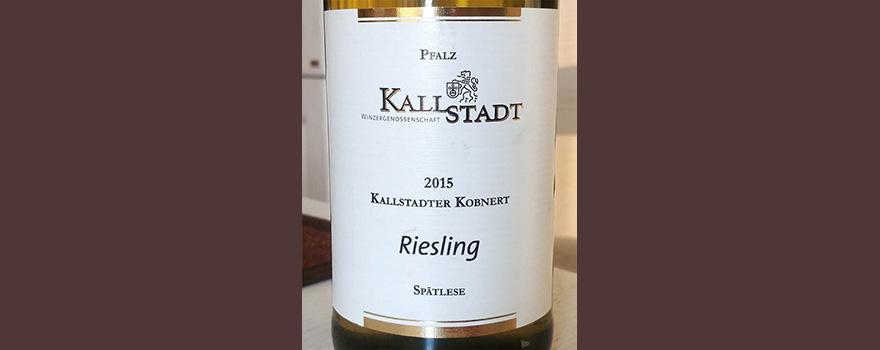 Отзыв о вине Kallstadt Kobnert Riesling spatlese 2015