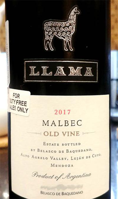 Отзыв о вине LLAMA Malbec old vine 2017