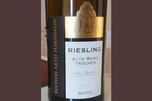 Отзыв о вине Mosel Riesling Alte Rebe trocken Edition Abtei Himmerod 2014