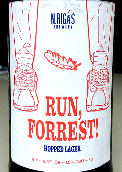 Отзыв о пиве Run, Forrest! hopped lager