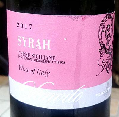 Отзыв о вине Sanvito Syrah Terre Siciliane 2017
