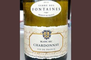 Отзыв о вине Terre de Fontaines Chardonnay blanc sec 2016