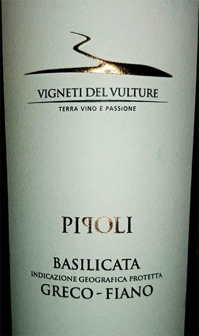 Отзыв о вине Vigneti del Vulture Pipoli Basilicata Greco Fiano 2017