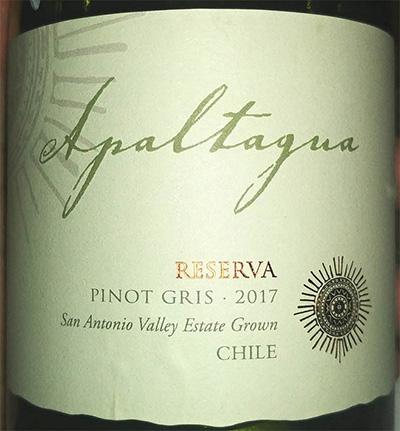 Отзыв о вине Apaltagna Pinot Gris reserva 2017