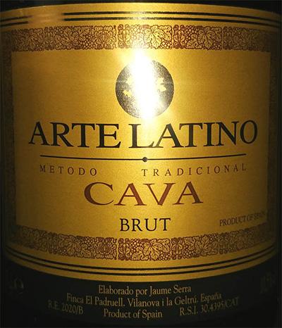 Отзыв об игристом вине Arte Latino Cava brut 2017