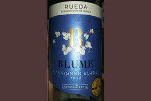 Отзыв о вине Blume Sauvignon Blanc 2016