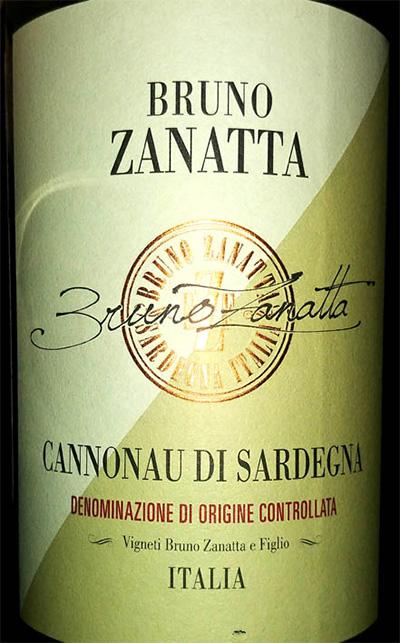 Отзыв о вине Bruno Zanatta Cannonau di Sardegna 2016