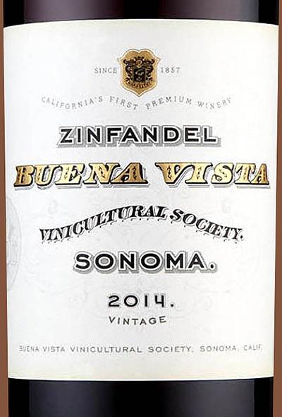 Отзыв о вине Buena Vista Zinfandel Sonoma 2014