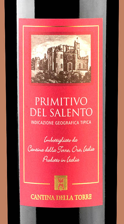 Отзыв о вине Cantina della Torre Primitivo del Salento 2015