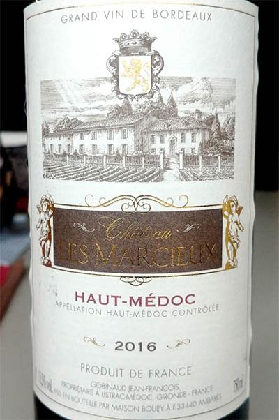 Отзыв о вине Chateau Les Marcieux Haut-Medoc 2016