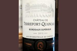 Отзыв о вине Chateau de Terrefort-Quancard Bordeaux superieur 2015
