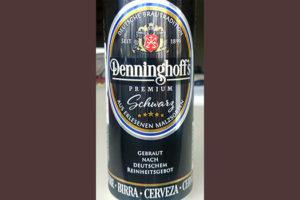 Отзыв о пиве Denninghoff's premium schwarz