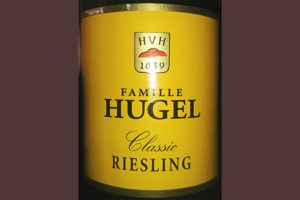 Отзыв о вине Famille Hugel Riesling classic 2015