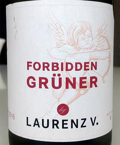 Отзыв о вине Forbidden Gruner Laurenz V. 2016