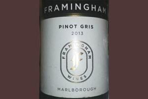 Отзыв о вине Framingham Pinot Gris 2013