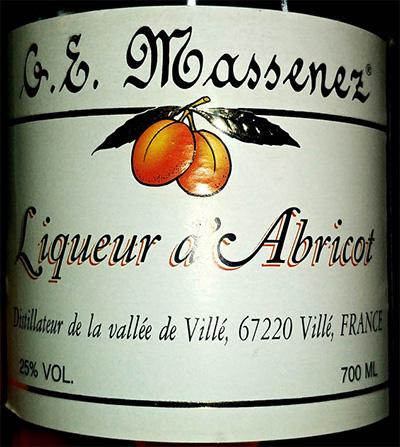 Отзыв о ликере G.E.Massenez Liqueur d'Abricot