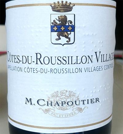 Отзыв о вине M.Chapoutier Cotes du Roussillon Villages 2015