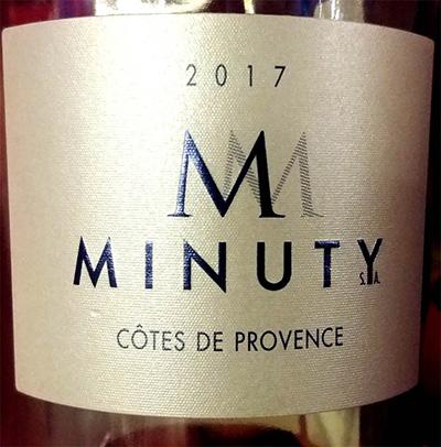 Отзыв о вине M Minuty Cotes de Provence 2017