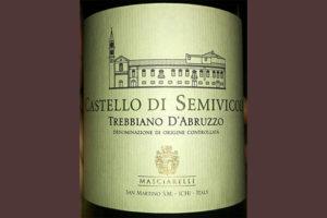 Отзыв о вине Masciarelli Castello di Semivicoli bianco 2013