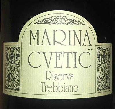 Отзыв о вине Masciarelli Marina Cvetic Riserva Trebbiano 2015