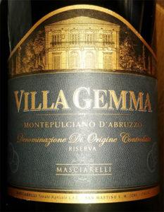 Отзыв о вине Masciarelli Montepulciano d'Abruzzo Villa Gemma reserva 2011