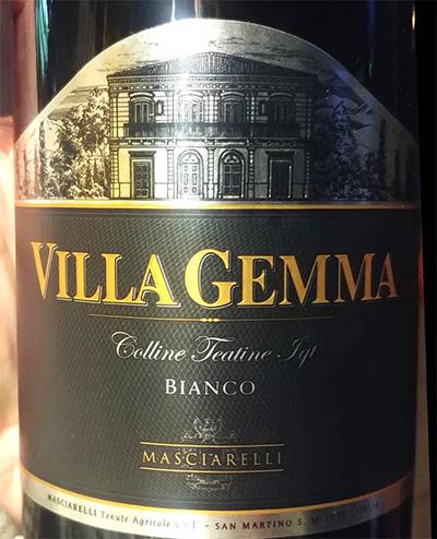Отзыв о вине Masciarelli Villa Gemma Colline Teatine bianco 2016