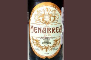 Отзыв о пиве Menabrea Ambrata premium amber