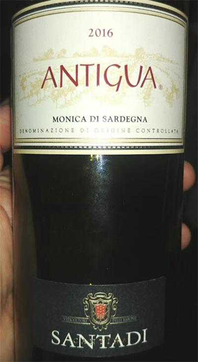 Отзыв о вине Monica di Sardegna Antigua Santadari 2016
