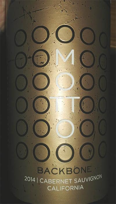 Отзыв о вине Motto Backbone Cabernet Sauvignon 2014