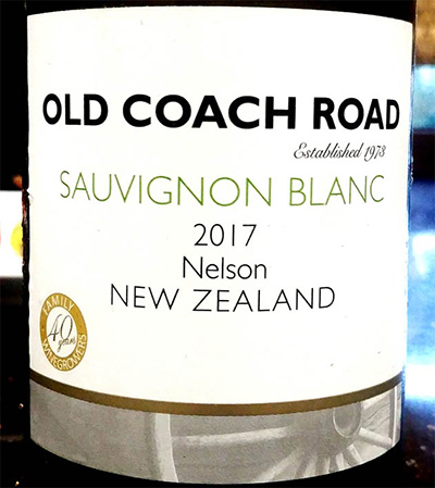 Отзыв о вине Old Coach Road Sauvignon Blanc 2017