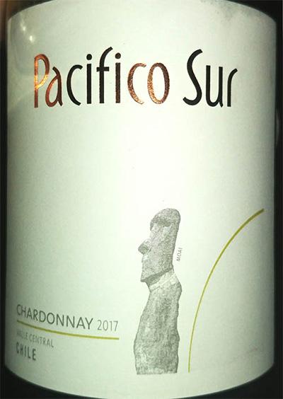 Отзыв о вине Pacifico Sur chardonnay 2017