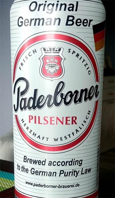 Отзыв о пиве Paderborner Pilsener